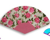 Washable Hand Fan Dusty Rose pink