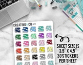 Book Icon Stickers for Variety of Planners - DCF11