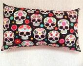 Custom Order Sugar Skull Travel Pillow