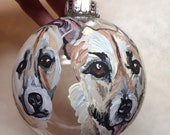 "Special Order for Anna Claire Robinson-Pet Christmas Ornaments - 2- 4"" round and 2- 3"" disk"