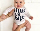 Little Brother outfit, Newborn boy coming home outfit, Baby Shower Gift, Newborn gift, baby boy coming home outfit, little brother shirt
