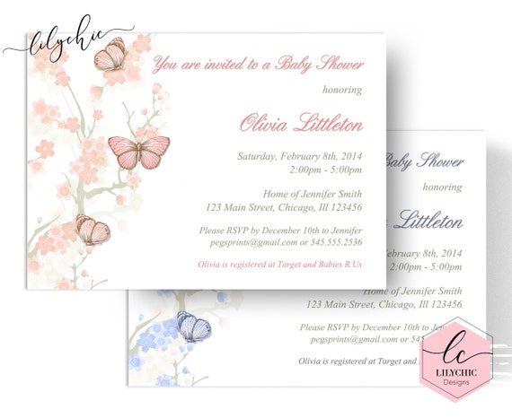 Butterfly baby shower invitation printable butterfly baby shower il570xn filmwisefo
