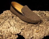 Cork Loafers Shoes in Brown - 100% Cork - Natural Portuguese Cork - Men's Shoes - Gift For Him
