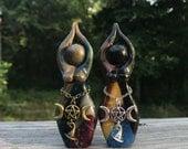 OOAK: Magic Sisters Story Goddess Sculpture set of two (figurine)