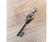 Key Planner Charm, Notebook Charm, Journal Panner Charm Travelers Notebook Charm, TN Sketchbook Ironbark Journal Decor Charm