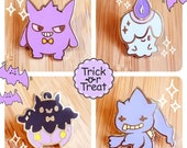 Ghost Pokemon Inspired Halloween Enamel Pins
