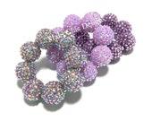 Baby, Toddler, Girls, Ladies All Bling Purple Sparkle Chunky bracelet - Light Purple Bracelet - Mermaid Purple Chunky Bracelet - Unicorn