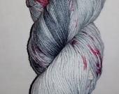 Bad Wolf Girl Studios - Allice & the Roses Fingering Weight Sock Yarn Knitting Destash / YARN DESTASH