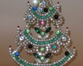 Reserved for B* Vintage Rhinestone Christmas Tree