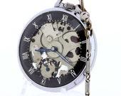 1940s Girardo-Perregaux and Co Shell Skeleton 7 Movement Pocket Watch