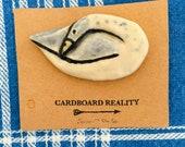 Sleeping Ceramic Indian Runner Duck Pin