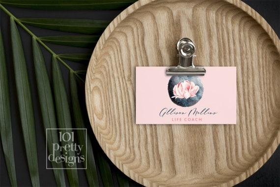 Life coach business card printable business cards design pink il570xn colourmoves