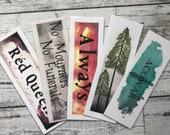FIVER FRIDAY - Red Queen, ACOWAR, Six of Crows, Trees, Always bookmark bundle