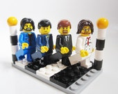 The Beatles Lego minifigures Abbey Road zebra crossing Fab Four Christmas Birthday gift idea GENUINE LEGO PIECES