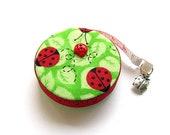 Measuring Tape Ladybugs on Lime Retractable Tape Measure