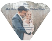 Additional 50 -  Personalized Photo Design Wedding Program Fan custom colors available