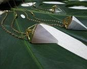 Geometric Crystal Necklace Quartz Necklace Pyramid Necklace