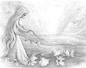 """GRAYSCALE Coloring Pages, Digital stamp, Digi, Flowers, Fantasy. """"He who lives in harmony with himself lives in harmony with the universe"""""""