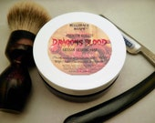 DRAGONS BLOOD Premium Quality Tallow & Shea Butter Shaving Soap 4 oz