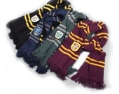 Harry Potter Scarf Scarf inspired by Harry Potter Harry Potter Houses Scarf Gryffindor Hufflepuff Ravenclaw Slytherin Scarf