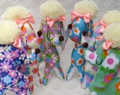 Cute Posh Poodle Retro Fabric Toy - You Choose!