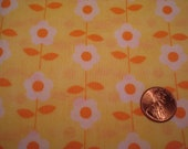QUARTER YARD adorable FLORAL flower print fabric Perfect for tiny doll dress sewing Blythe doll