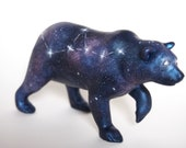 Oberon - OOAK (one of a kind) handmade sculpture / Galaxy - Constellation bear fantasy figurine