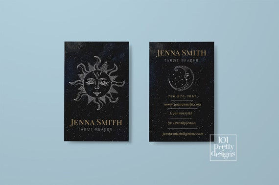 Tarot reader business card printable business cards design magic il570xn colourmoves