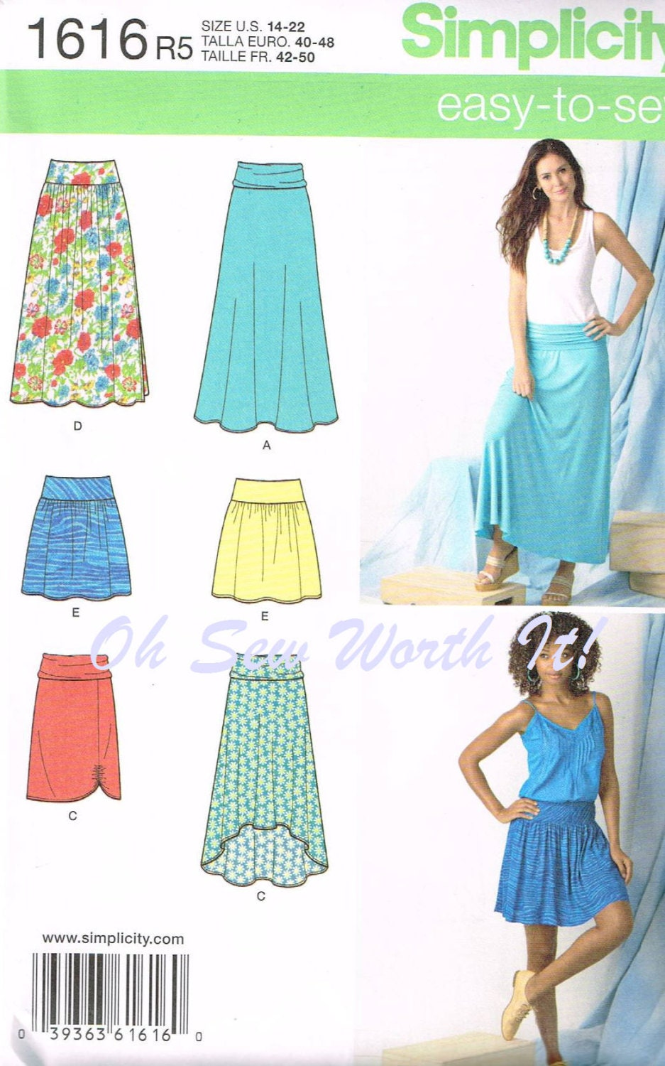 Simplicity 1616 Commercial Sewing Pattern Misses by OhSewWorthIt