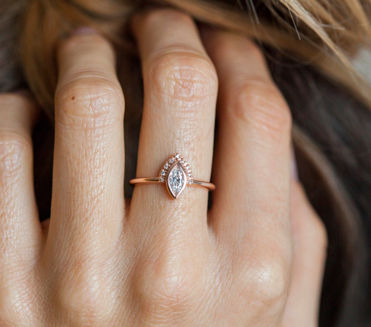 EastWest Solitaire Engagement Ring in Rose Gold  Blue Nile