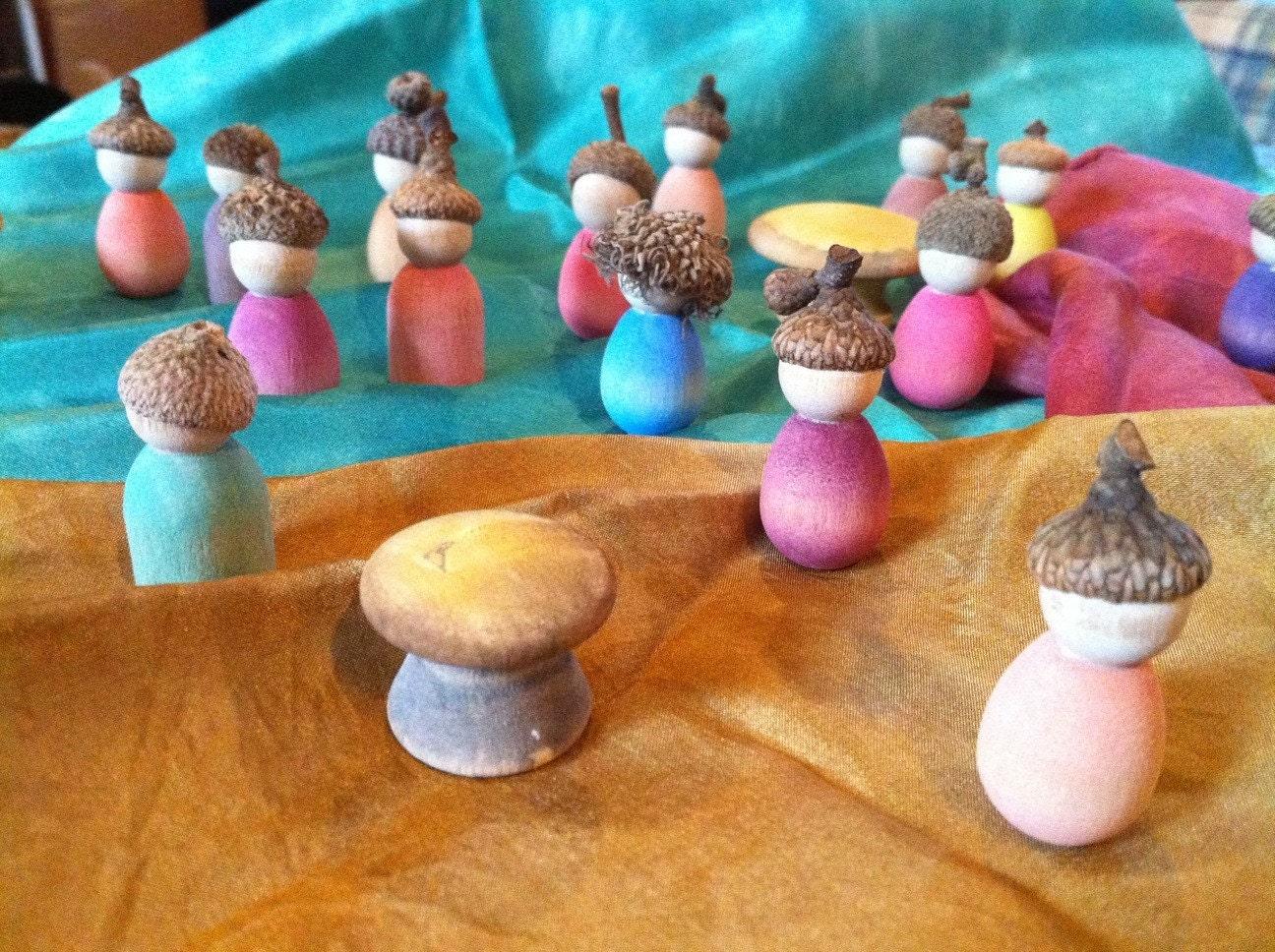 Acorn Cap Littles for Nature Table - nzimm