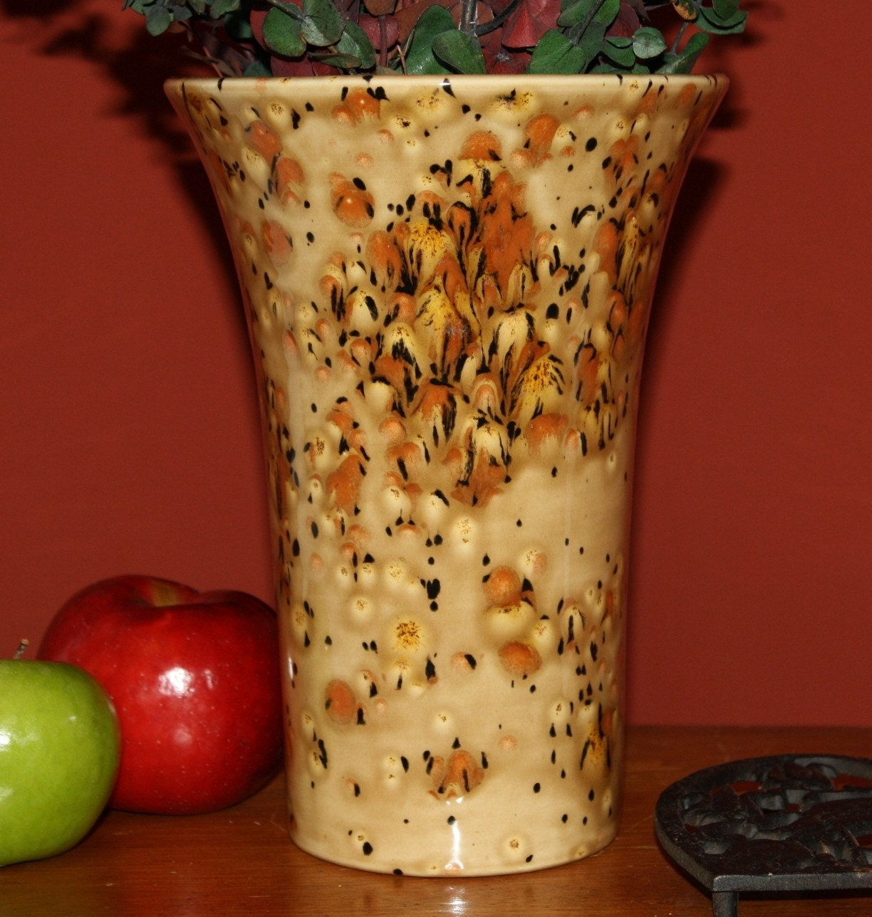 Centerpiece Vase Earth Tone Golden Brown - miasorellagifts