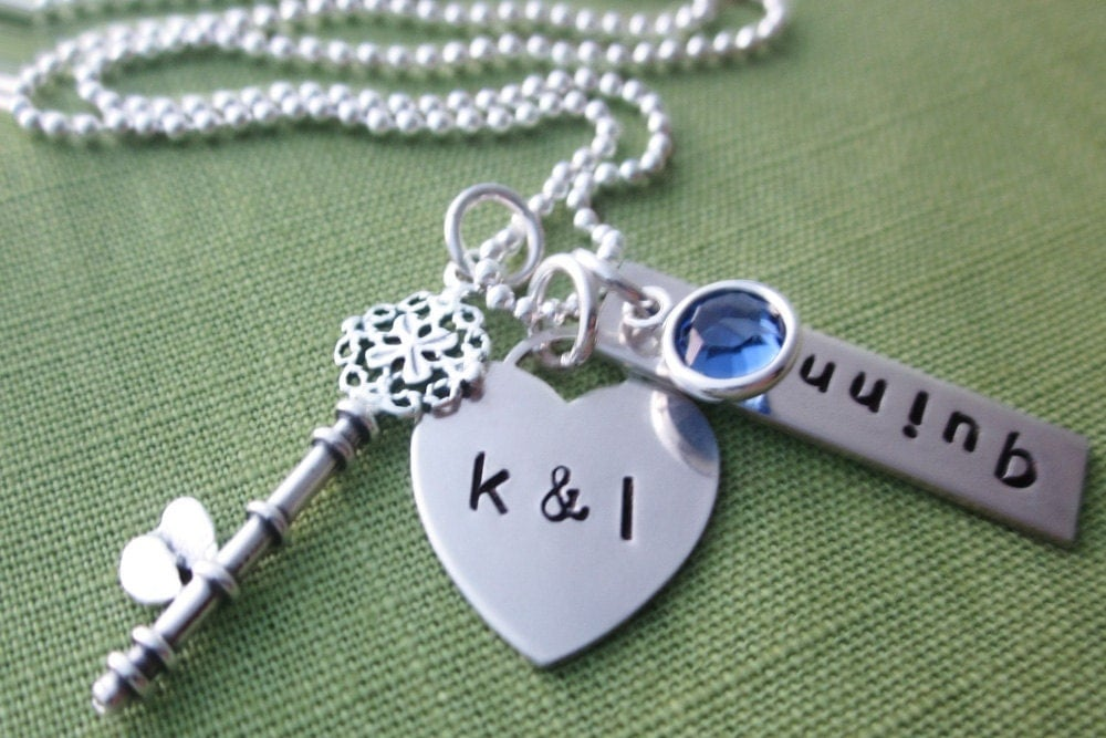 First mother 39 s day tiffany heart with initials by akaoriginals for New mom jewelry tiffany