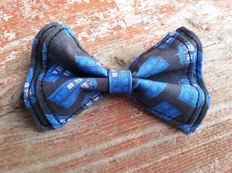 doctor who tardis bow tie newborn to 5t by tinyties on etsy