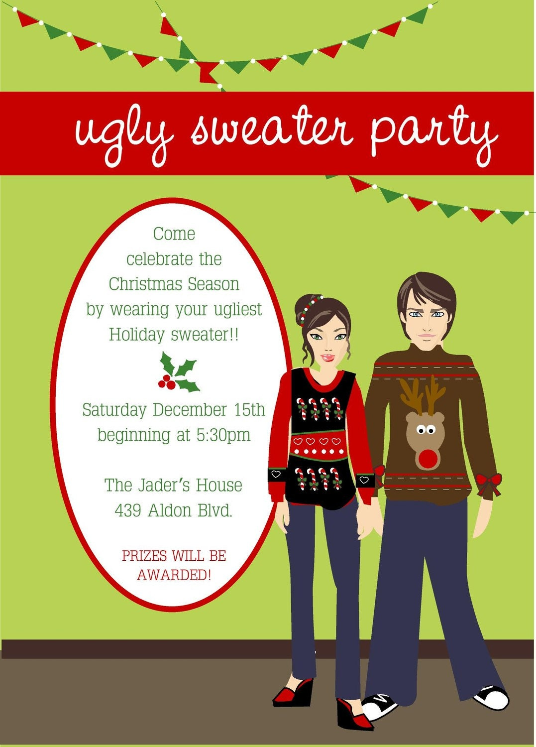 Ugly Sweater Christmas Party Invitations for good invitations layout