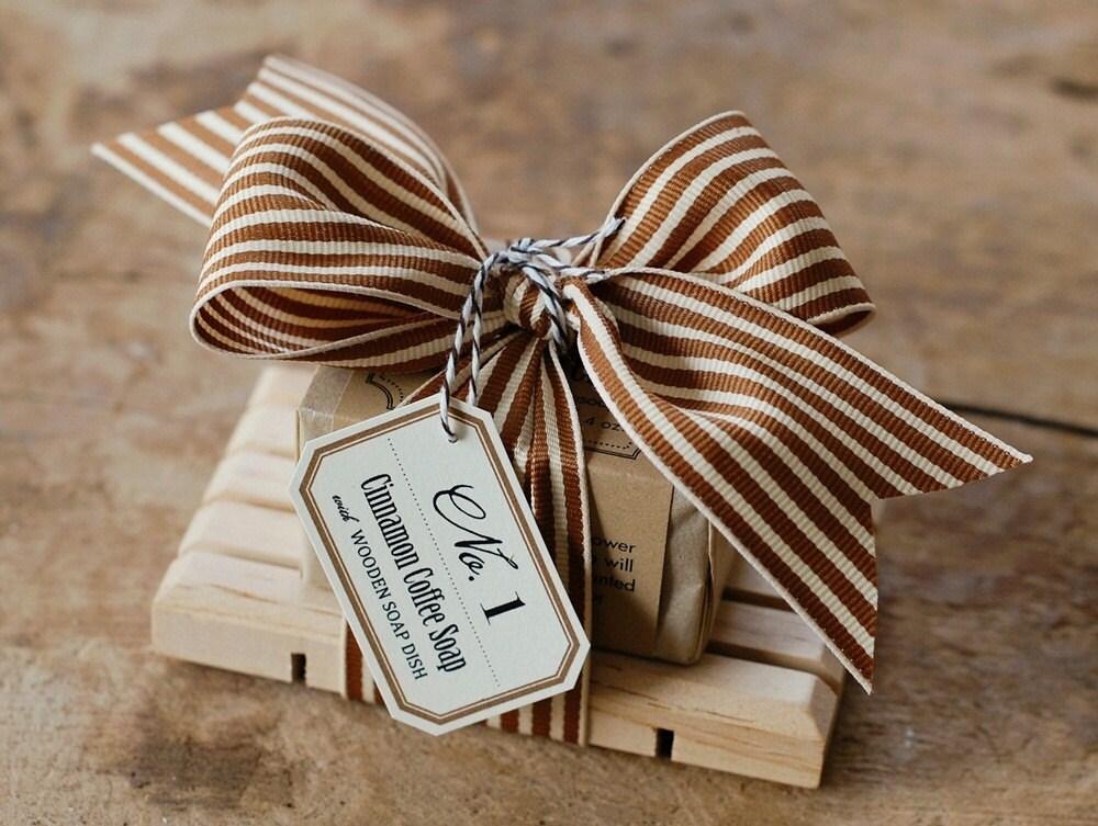 No. 1 - Soap Dish Gift Set - Natural Handmade Soap & Wooden Soap Dish - FrogGoesToMarket