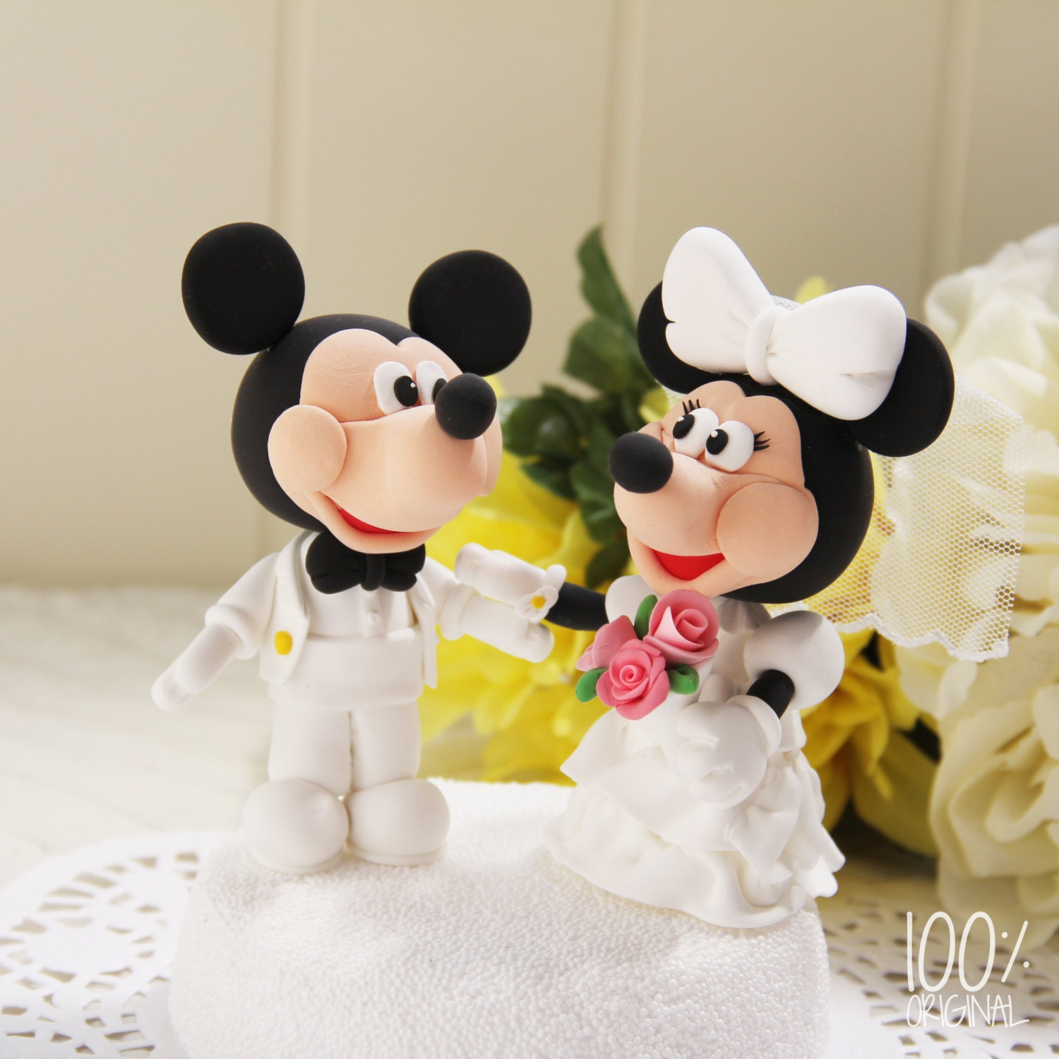 Custom Wedding Cake Topper Mickey And By TheRosemarryToppers