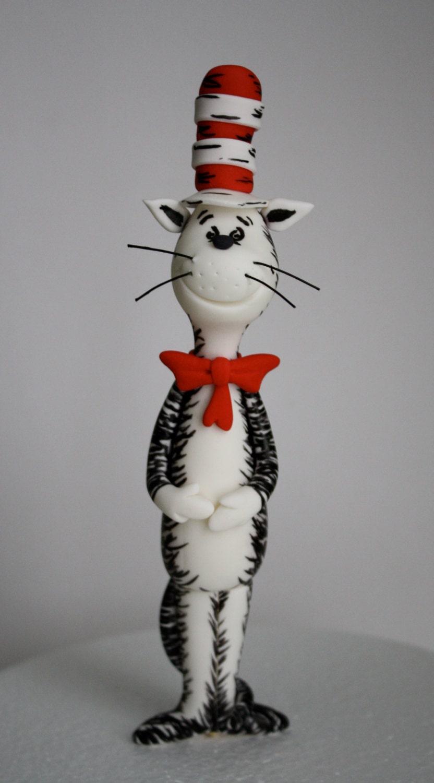 fondant cat in the hat