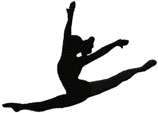Displaying (18) Gallery Images For Gymnastics Silhouette Leap...