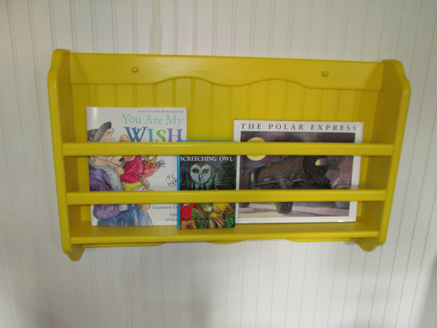 Items Similar To Book Rack Children 39 S Wall Hanging Painted
