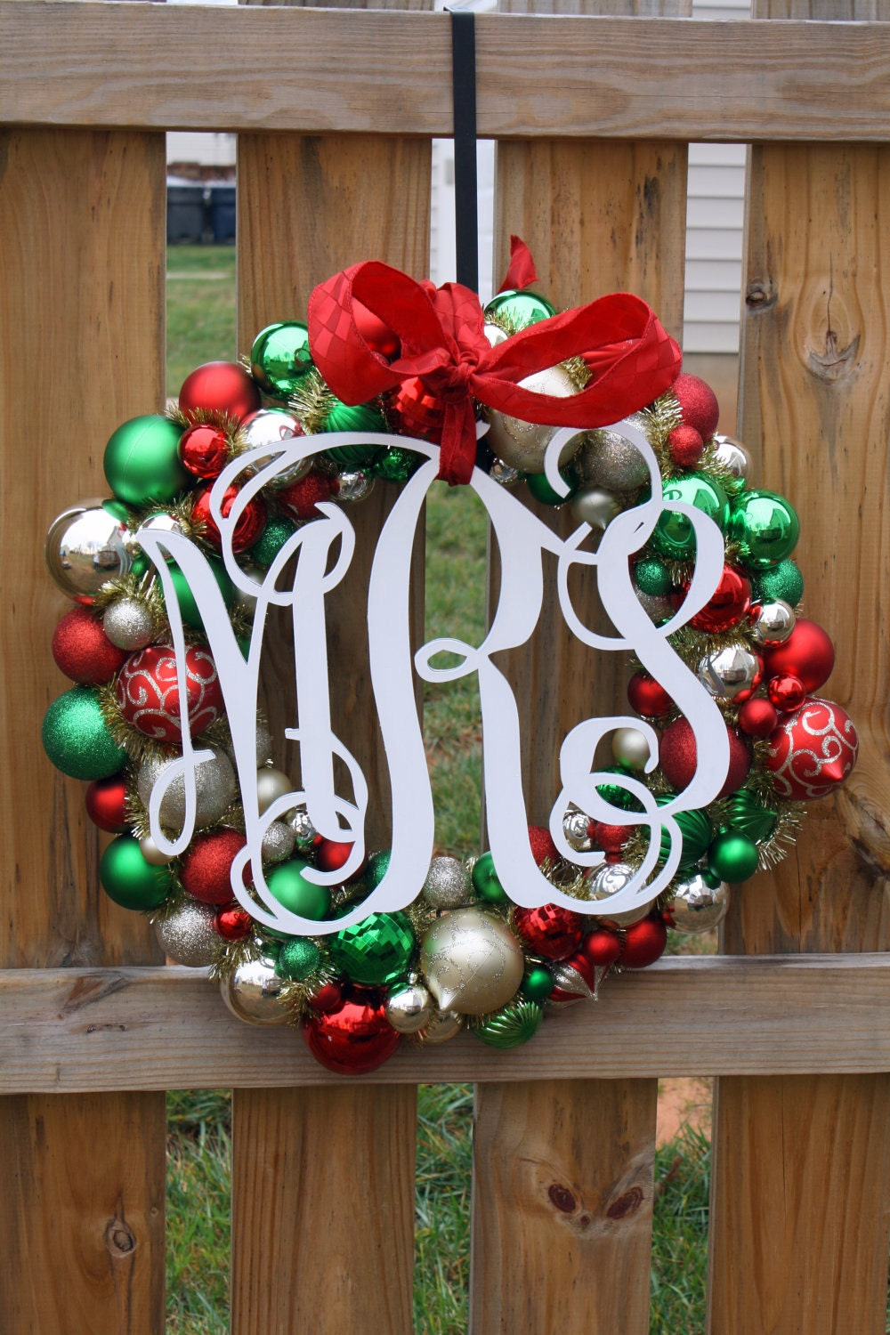 "Medium (14"") Wooden Monogram-Ready to Paint-Perfect for Spring Wreaths and more"