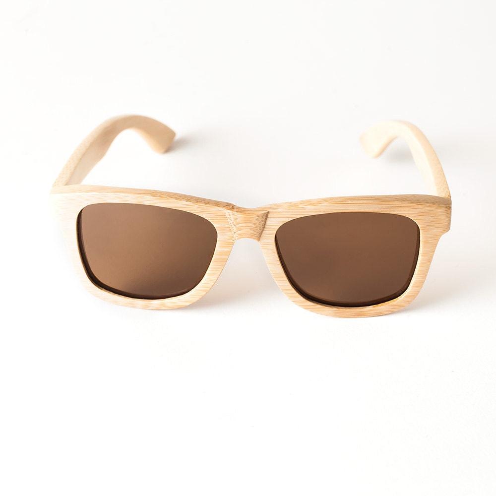 Handmade Bamboo Wayfarer Sunglasses (Light Grain) - ShadesofBamboo