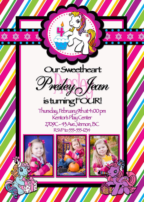 My Little Pony Birthday Invitations Printable