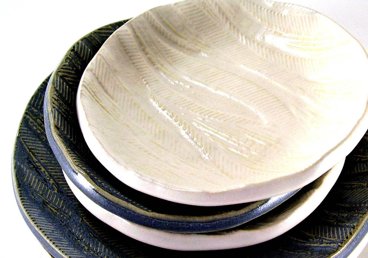 tapas plate coastal living sand dollar off white cream handmade ceramic tableware dinnerware Backwater Bay Collection - Ravenhillpottery