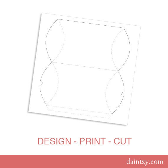 Download: Pillow Box Party Favor or Gift Box Template Printable ...