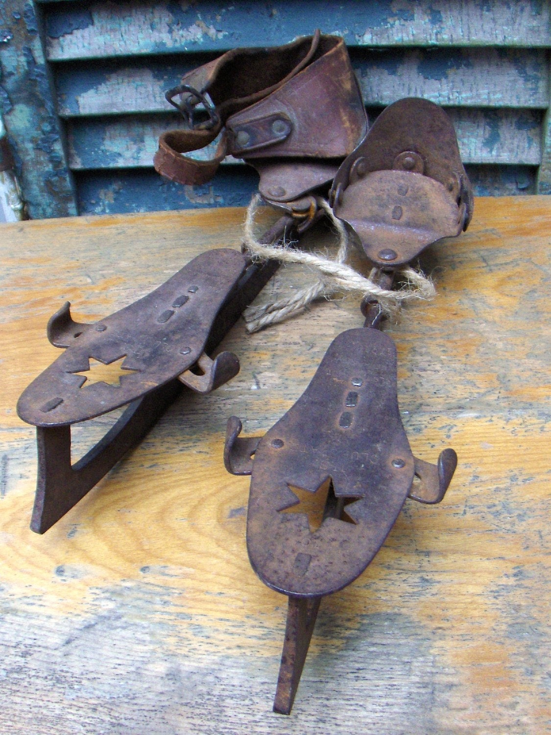 Antique Ice Skates Us Club Skate By Convergedcommodities