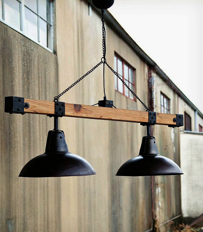 Industrial Style Warehouse Light Beam - TheCamdenStreet