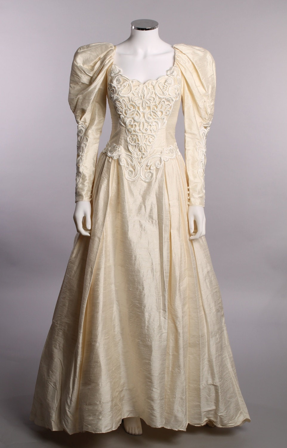 Items similar to vintage 1980 39 s jessica mcclintock long for Jessica mcclintock wedding dresses outlet