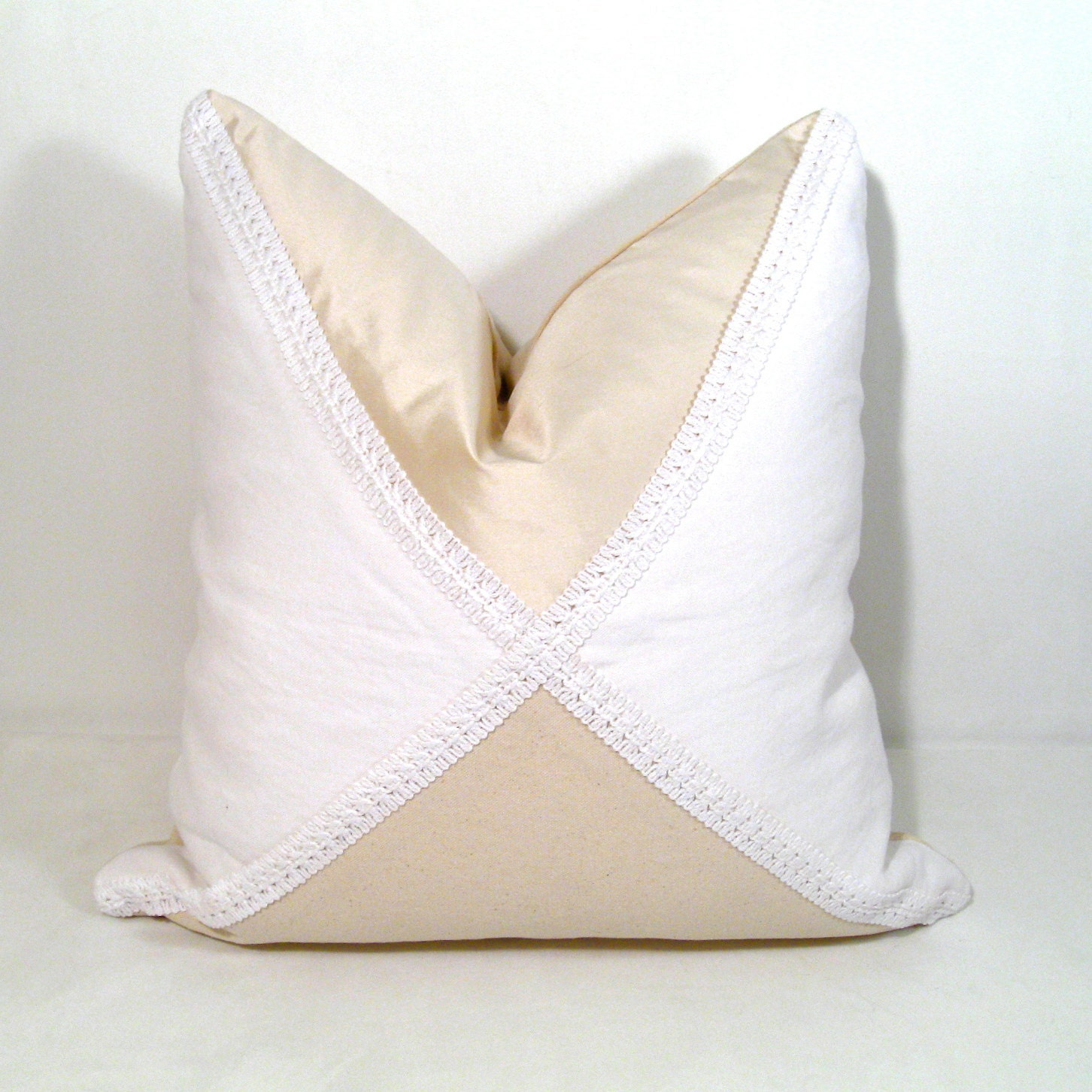 White Cream Throw Pillows : SALE Decorative Pillow Cover White Cream by SewSampleShop on Etsy