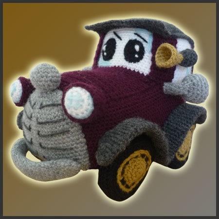 Patron Amigurumi Car : Amigurumi Pattern Crochet PDF Classic Car by DeliciousCrochet